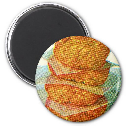 Hamburguesas retras de las empanadas de la hamburg imán redondo 5 cm