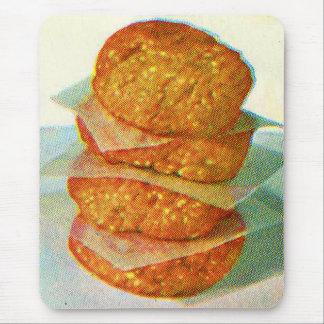 Hamburguesas retras de las empanadas de la hamburg alfombrilla de ratones
