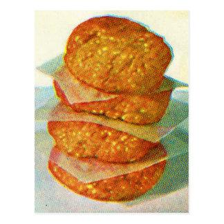 Hamburguesas retras de las empanadas de la postal
