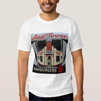 Hamburguesas rojas solamente 5¢ de la torre del playeras