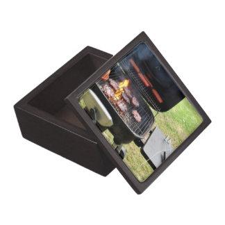 Hamburguesas y perritos calientes caja de joyas de calidad