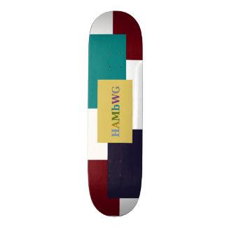 HAMbWG Graphic Skate Board -  4 colour Hard Maple