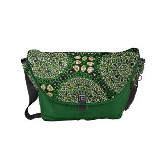 HAMbWG Green Garden Boho Design  Messenger Bag