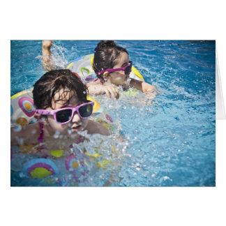 HAMbWG - Greeting Card - Young Girls on Floaties
