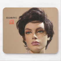 HAMbWG Mannequin Mouse Pad w qr code