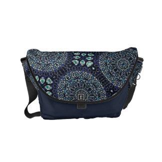 HAMbWG Navy Garden Boho Design  Messenger Bag