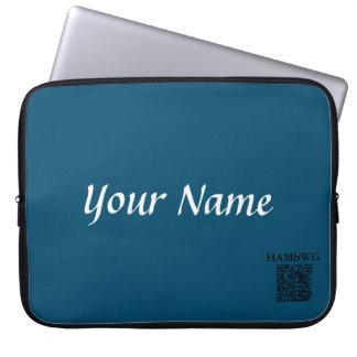 HAMbWG - Neoprene Laptop Case - Teal Personalize