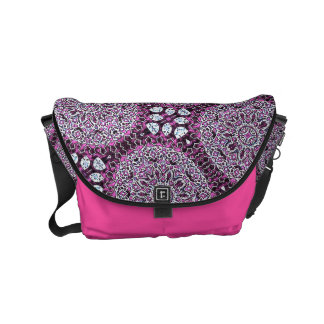 HAMbWG Pink Garden Boho Design  Messenger Bag