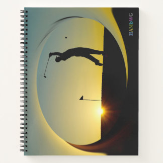 HAMbWG - Spiral Notebook - Man Golfer in Sunset