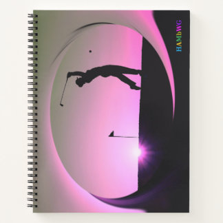 HAMbWG - Spiral Notebook - Woman Golfer - In Pink