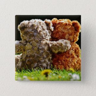 HAMbWG - Square Button - Teddy Bear Friends