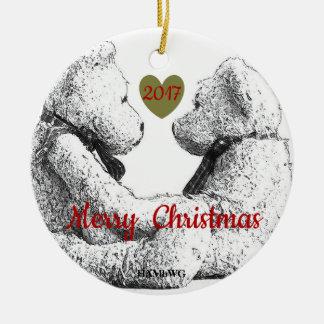 HAMbWG Teddy Bear Photo Ornament