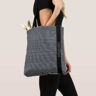 HAMbWG - Tote Bag - Black & White Fine Lines