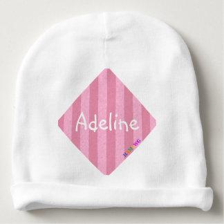 HAMbyWG - Baby Beanie - Light Pink Stripe