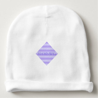 HAMbyWG - Baby Beanie - Lilac Stripe