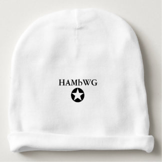 HAMbyWG Baby Cotton Beanie Black Logo w Star