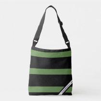 HAMbyWG - Canvas Shoulder Bag - Black & Sage  Logo