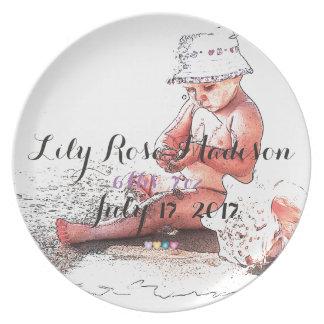 HAMbyWG Commemorative Melamine Plate - New Baby