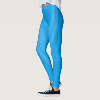 HAMbyWG - Compression Leggings - 2 Tone Sky Blue