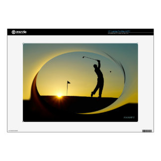 HAMbyWG - Computer Cover - Golfer at Sundown Laptop Skins