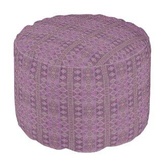 HAMbyWG - Cotton Round Pouf Chair - Purple Boho