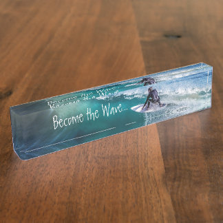 HAMbyWG Desk Name Plate - Become the Wave
