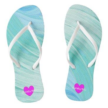 HAMbyWG -  Flip- Flops  Aqua Mint Swirl Flip Flops