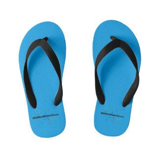 HAMbyWG Flip Flops -Kids, Toddler - Brt Blue Logo