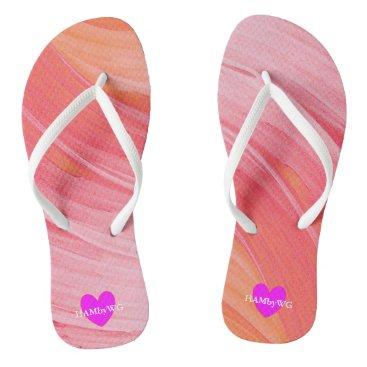 HAMbyWG -  Flip- Flops - Raspberry Orange Sherbert Flip Flops