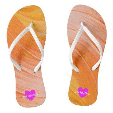 HAMbyWG -  Flip- Flops - Tangerine Swirl Flip Flops