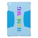 HAMbyWG -Hard Case - Blue w Multicolor Logo iPad Mini Covers