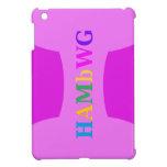 HAMbyWG -Hard Case - Violet w Multicolor Logo iPad Mini Covers
