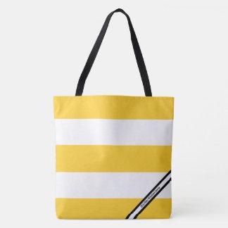 HAMbyWG - LG Tote Bag - Yellow & White W Logo