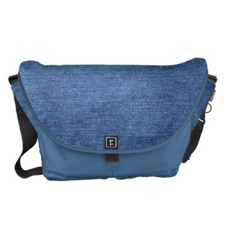 HAMbyWG - Messenger Bag - Denim Print - Blue