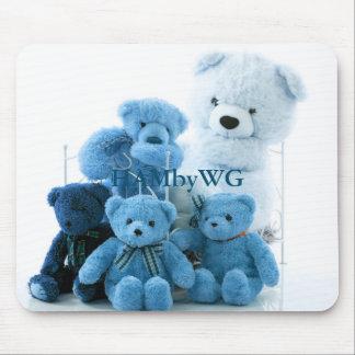 HAMbyWG - mouse Pad - Blue Teddy Bears