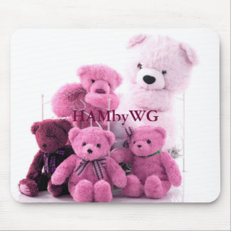HAMbyWG - Mouse Pad - Pink Teddy Bears