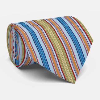 HAMbyWG - Neck Tie - Chocolate Santas Vert. Stripe