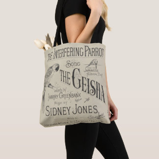 HAMbyWG - Novelty Tote Bag - Interferring Parrot