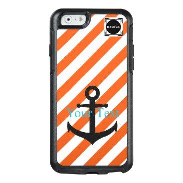 HAMbyWG  -  Orange & White Stripe Anchor Theme OtterBox iPhone 6/6s Case