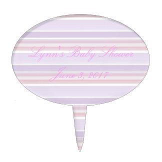 HAMbyWG - Oval Cakepick - Pink Lilac Stripe