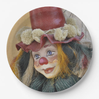 "HAMbyWG - Paper Plates 9"" - Antique Clown"
