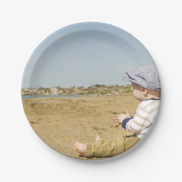 Beach Themed HAMbyWG -  Paper Plates - Baby on Beach