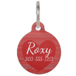 HAMbyWG - Pet Name Tag - Red/Red Heart