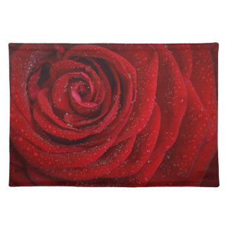 """HAMbyWG - Placemats  20"""" x 14"""" - Red Rose"""