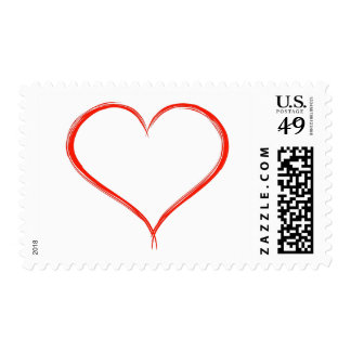 HAMbyWG - Postage Stamps (20) Freestyle Heart