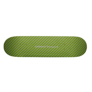 HAMbyWG - Skateboard - Greem Diagonal Stripes