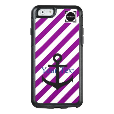HAMbyWG  -  Violet & White Stripe Anchor Theme OtterBox iPhone 6/6s Case