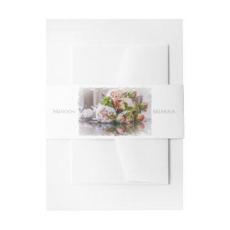 HAMbyWG   Wedding Invitation/Envelope   Peony Invitation Belly Band