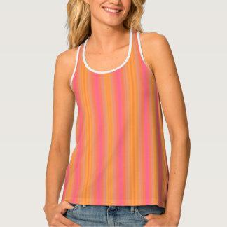 HAMbyWG - Women's Tank Top - Orange & Pink Stripes