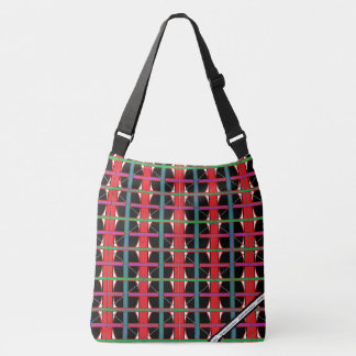 HAMbyWhiteglove -Cross-Over Shoulder - Black Light Crossbody Bag